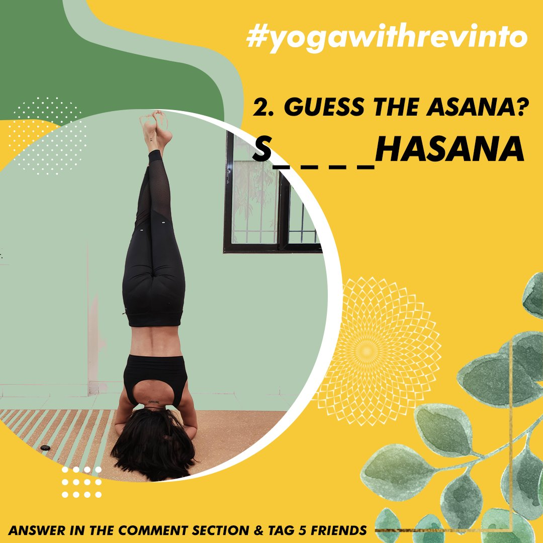 2. GUESS THE ASANA? Follow Us & Yoga With Malvika Answer in the comment section & tag 5 friends  Winner picked Via LUCKY DRAW. #yogawithrevinto  #giveaways #revinto #winners  #skincareproducts #contest #promotion  #yoga #fitness #fitnessmotivation https://t.co/gHohbJsSFf