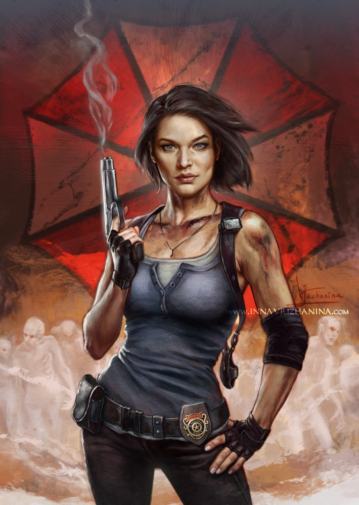 Collecting all my #ResidentEvil ladies paintings in one place. This definitely calls for one more #LadyDimitrescu painting to balance out Jill 😎  #ResidentEvil8Village #JillValentine https://t.co/7jpoqJ9fM6