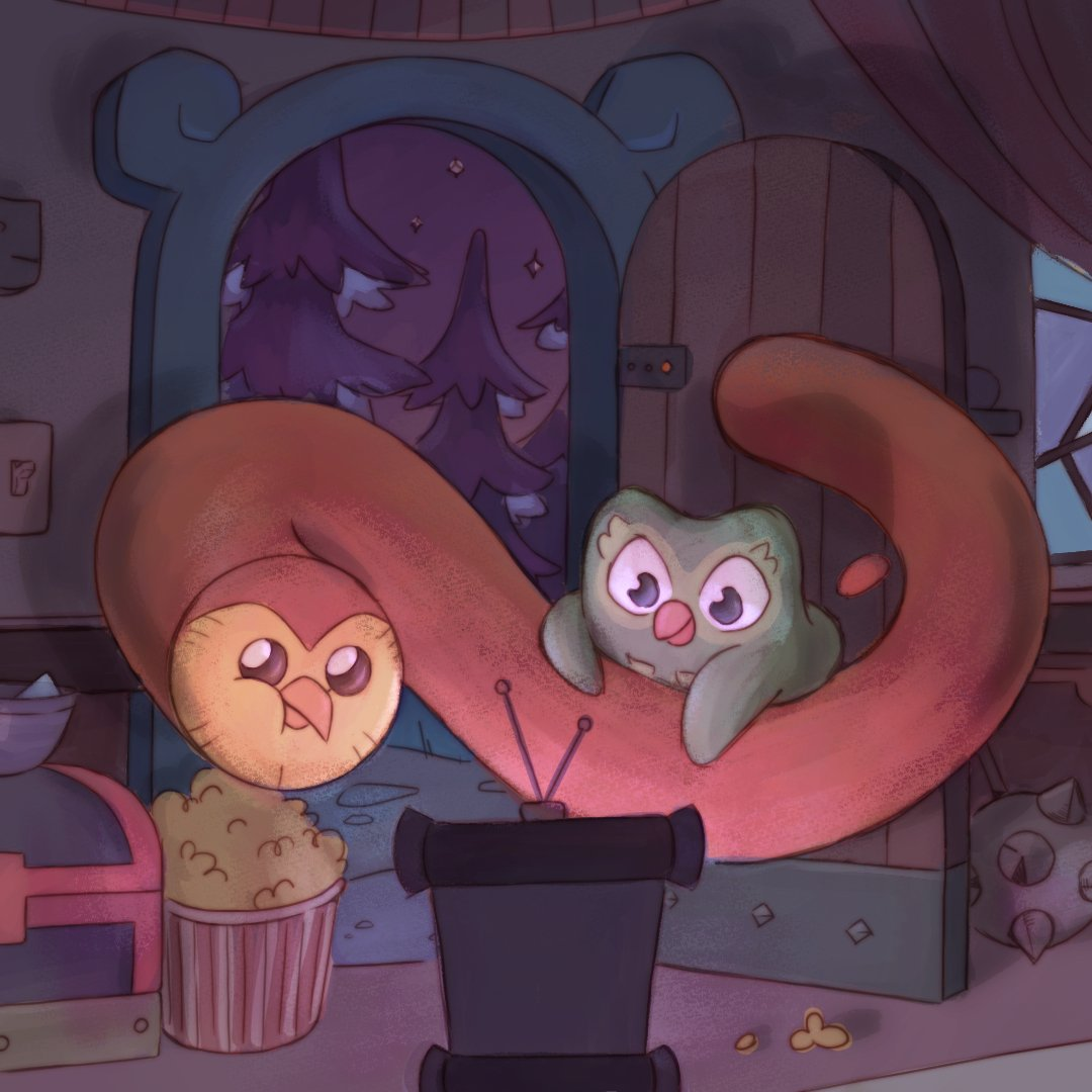 """Duolingo on Twitter: """"Duo's visiting Hooty in the Boiling Isles to watch  the new season of #TheOwlHouse! We've been ready, @DanaTerrace. 👀 🍿…  https://t.co/TrXveV3YX8"""""""