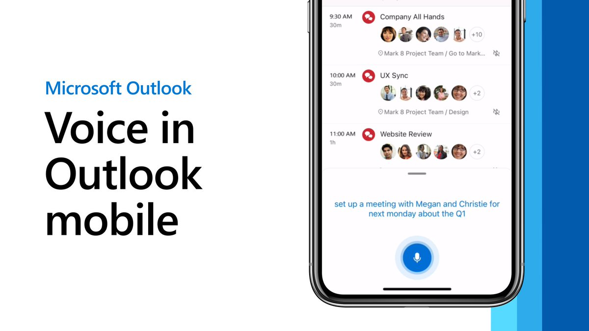 Microsoft Outlook for iOS now lets you use your voice to write emails and more
