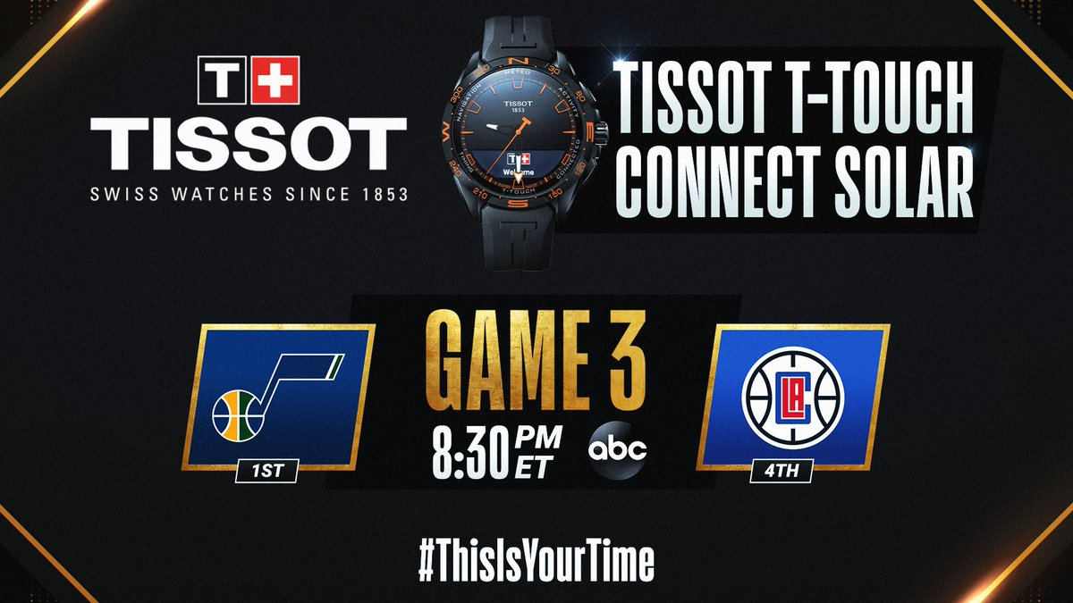 The #NBAPlayoffs continue tonight with Jazz/Clippers Game 3 at 8:30pm/et on ABC. #ThisIsYourTime   🛒 Shop @TISSOT Here: https://t.co/IBgyQ4VIdS https://t.co/kcQqYP7O5w