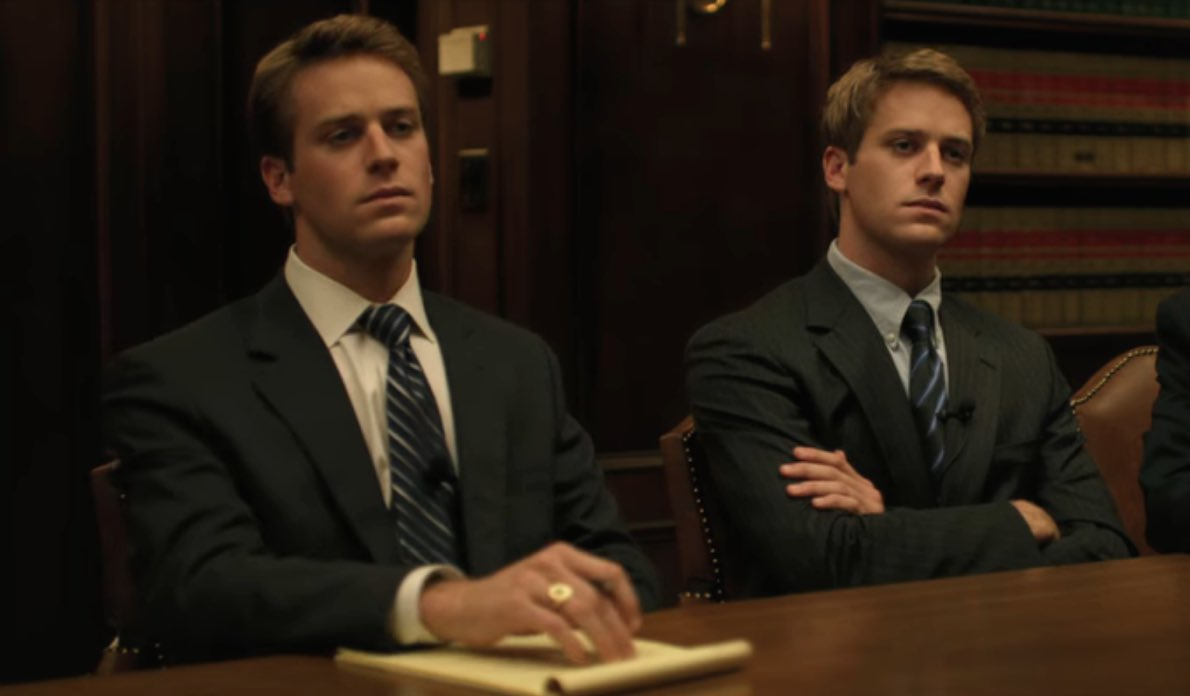 Still can't believe they cloned Armie Hammer for the Social Network and killed the clone after filming https://t.co/XDlsxw93hI