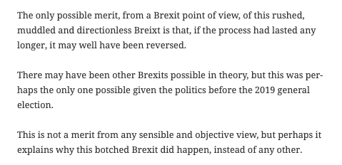 A splendidly clear and concise exposition of the Brexit and Northern Ireland issue. Not one suspect that this will lead to any changes of mind from those whose mind is made up to blame the EU come what may. https://t.co/mPHjSLFZwx