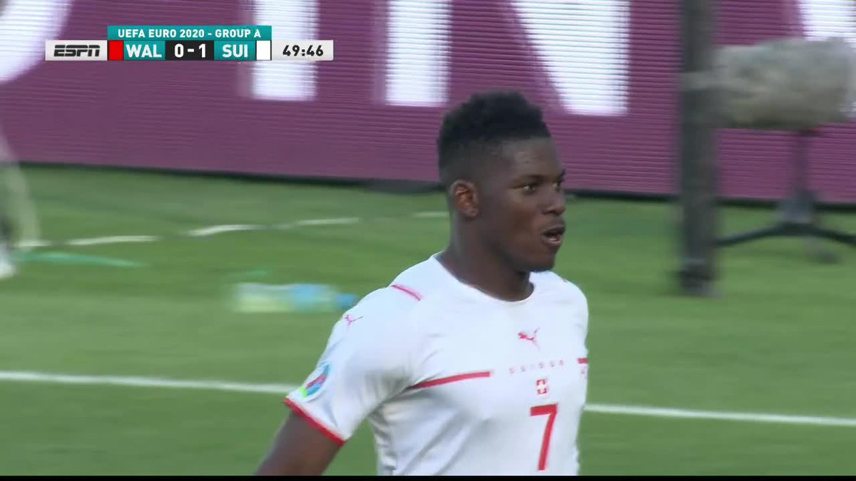 Breel Embolo gives Switzerland the lead! 💥 https://t.co/XNp4be9rmx