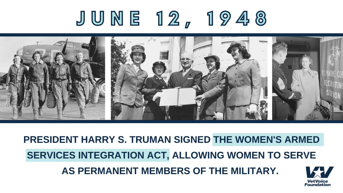 Today is Women Veterans Day! On this day 73 years ago, the Women's Armed Services Integration Act allowed women to permanently serve in the military, during peacetime and wartime. #WomenVeteransDay https://t.co/Az6ahTuoiP