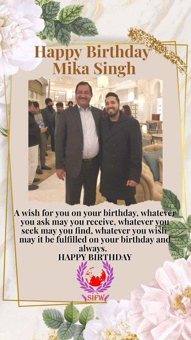 Wishing You Happy Birthday Mika Singh