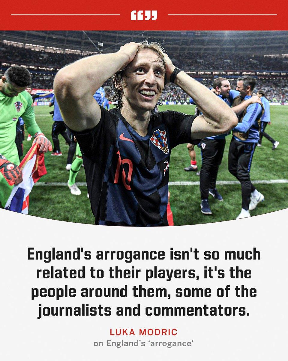 Luka Modric on England 👀 https://t.co/7tmUwuw0Be