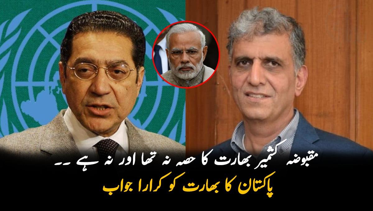 جموں و کشمیر بھارت کا حصہ نہیں، اقوام متحدہ میں بھارت کو پاکستان کا کرارا جواب