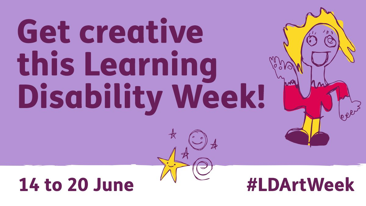 RT @mencap_charity: Get creative with us for Learning Disability Week! 🎨  From 14 to 20 June we will be celebrating artistic talent in the #LearningDisability community.   Join us for #LDArtWeek and share your creativity with the world!😀  Find out more: https://t.co/3ZunmFa3hZ 👈