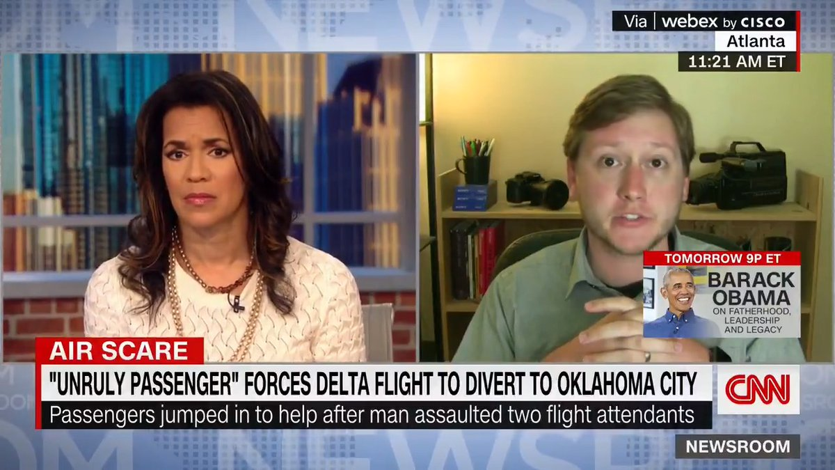 """Crew members and passengers of a Delta flight subdued an unruly passenger after he assaulted two flight attendants and, according to police, said he was """"going to take the plane down."""" A witness on the flight, Benjamin Curlee, discussed what he experienced https://t.co/JyVwdPHfKC https://t.co/CDjL9DsjFO"""