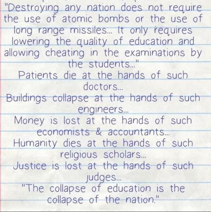 """A Nation """"collapses"""" when """"education"""" is allowed to collapse  Superceding & Demolishing #MERIT in any format leads to tentative """"collapse"""" of any  Nation in future  #India is one among such  When CRY is #OneNationOneRule than WHY to promote #Reservation on #Caste Basis? https://t.co/AfqeDGtkYM"""