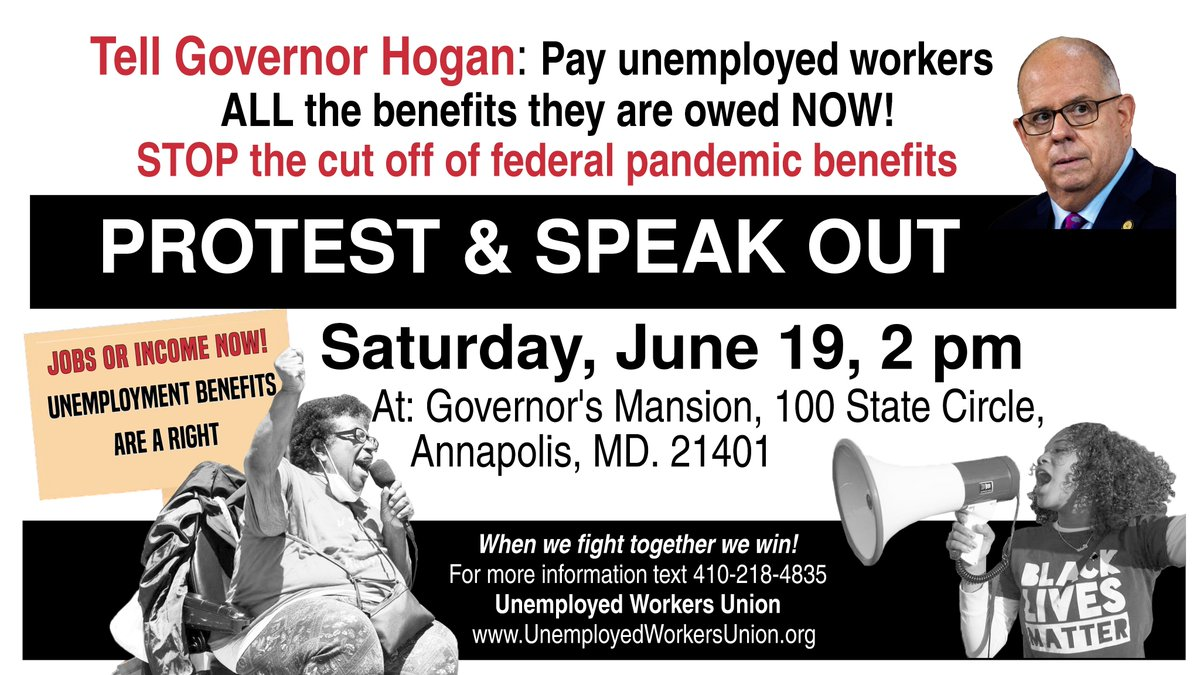 @reginatboyce   @TerriHillMD   @JenTerrasa   @Del_Cullison   @ElectWells   @harry4maryland  @MaryLehman_D1   @LCharkoudian   @SheilaRuthD44B  Here's the flier for the Protest on June 19th. Thank You. https://t.co/OEnC7Epv3L