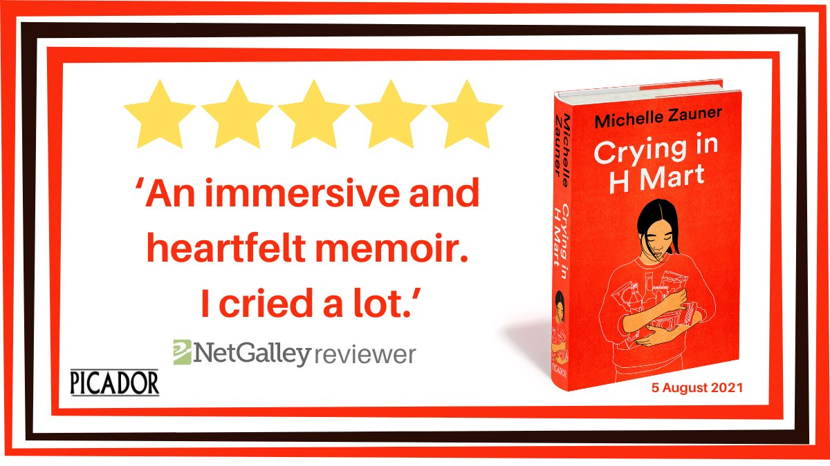 A common theme appearing in early reader reviews for Michelle Zauner's stunning New York Times bestselling memoir Crying in H Mart . . .   Pre-order your copy today (and keep a box of tissues close). 😭  5 August 2021.  https://t.co/RUBc0bWFOo https://t.co/Mk755cyhdx