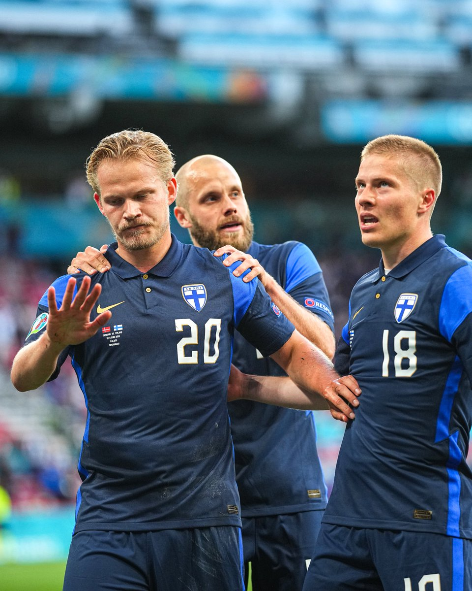 Joel Pohjanpalo scored Finland's first goal at a major tournament but held back on the celebration. https://t.co/krUIOSwlh3