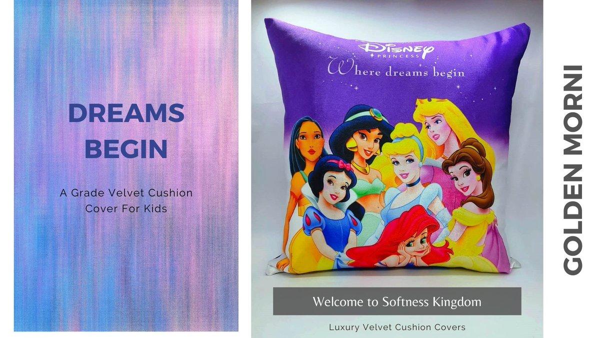 "Beautiful Dreams Begin Design Luxury Velvet Cushion Cover Sparkles1 Cushion case (16""x16""). Sparkles100% grade A velvet.  #cushioncover #velvet #velvetcushion #homedecor #livingroom #bedroom #princess #disney #sale #sales #cushion #cushionstyle #kids #kidscushions https://t.co/aB5DNgJXWt"