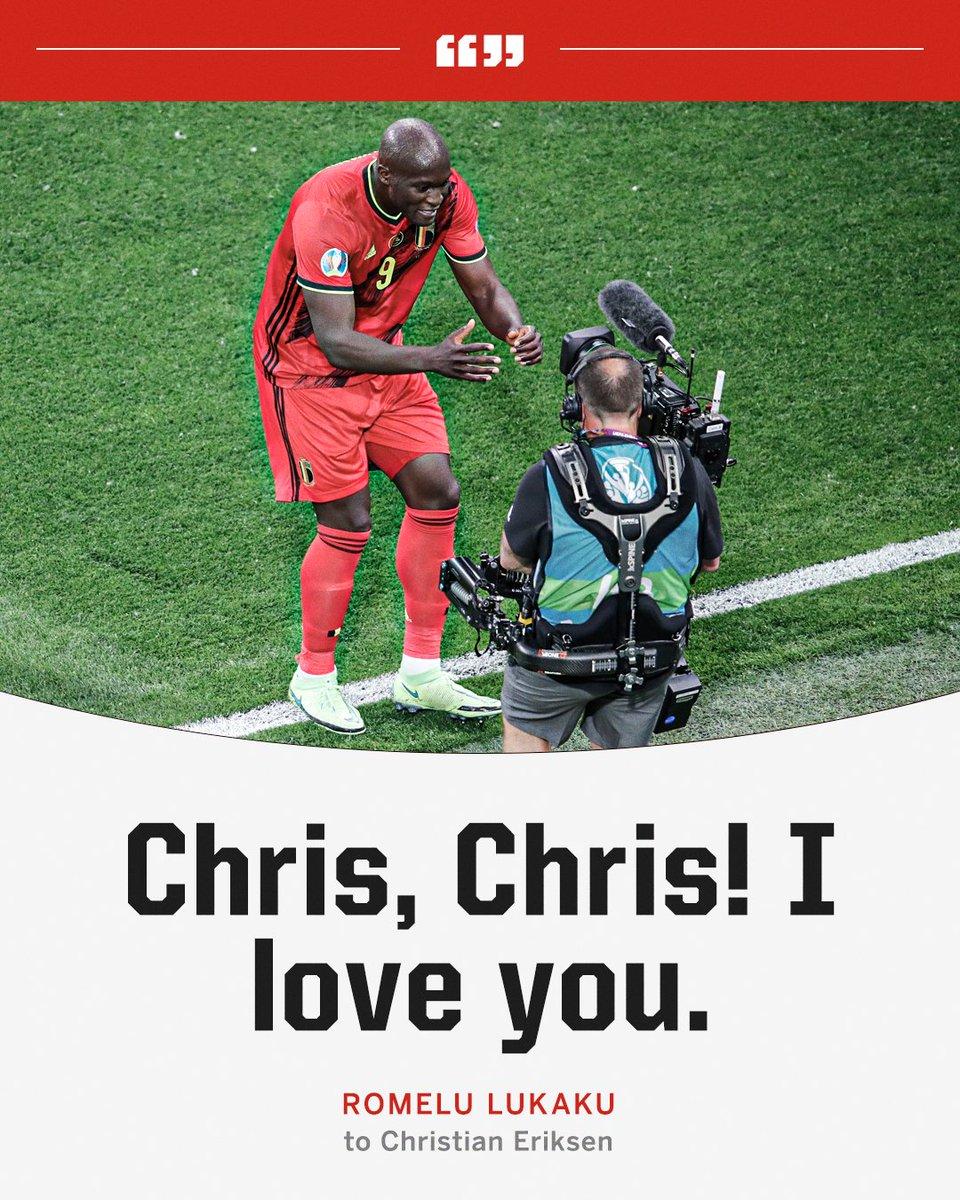 Romelu Lukaku's message to Inter teammate Christian Eriksen after scoring ❤️ https://t.co/17jrCakEJM