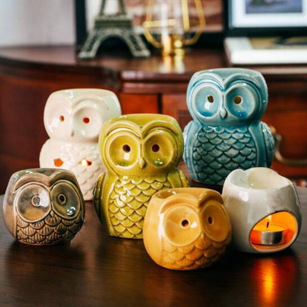Owl Ceramic Oil Burner Diffuser Aromatherapy Aroma Oil Lamp Gifts And Crafts Home Decor Essential Oil Burner  $ 15.00   #jandmhomebarn #pillows #cornersofmyhome #bedroomideas #cozyinteriors #apartmenttherapy #pillow #interior4all  https://t.co/kK9dt9KlJa https://t.co/eZx9UgdlUl