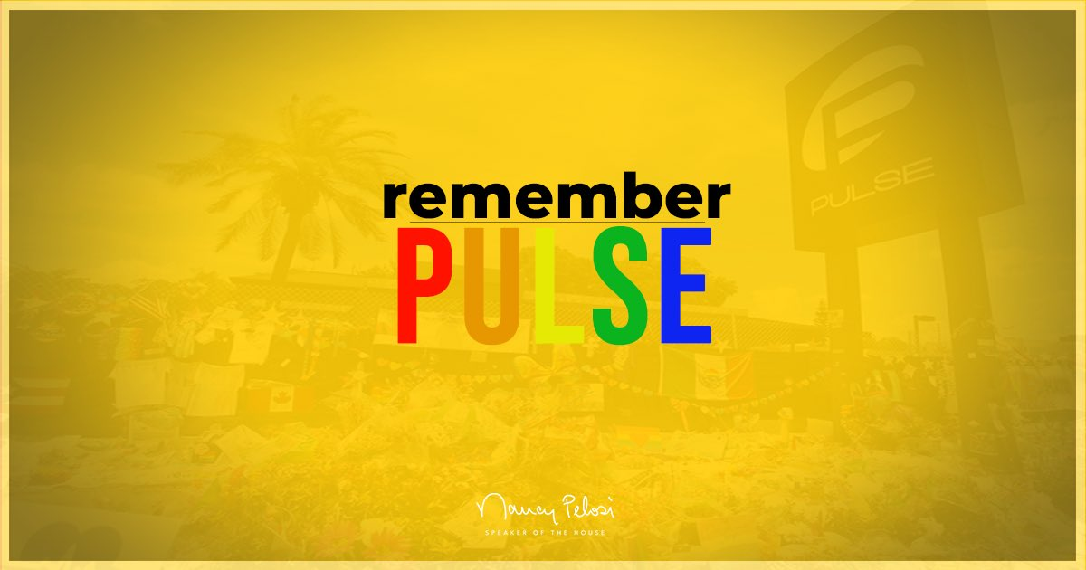 Joining this national moment of silence, we #RememberPulse and grieve the 49 beautiful souls who were killed 5 years ago today.   House Democrats #HonorThemWithAction and pledge anew that we will never stop working to #DisarmHate. https://t.co/hgpAR9Crhw
