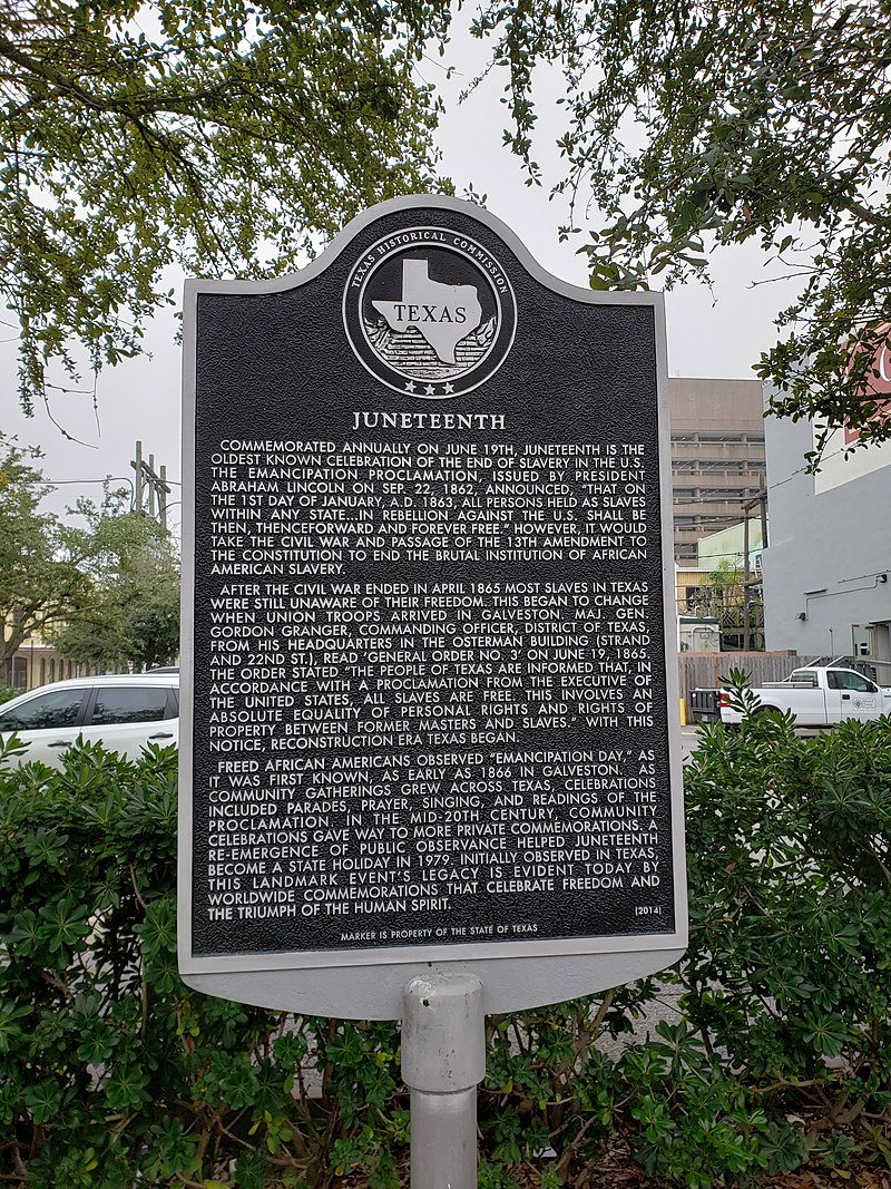 @SooperMexican Yes! #JuneTeenth started in Galveston, Texas. Still (like #CincodeMayo) a big deal here. Oh, and your plaque, Sir. https://t.co/g90NZr2efJ