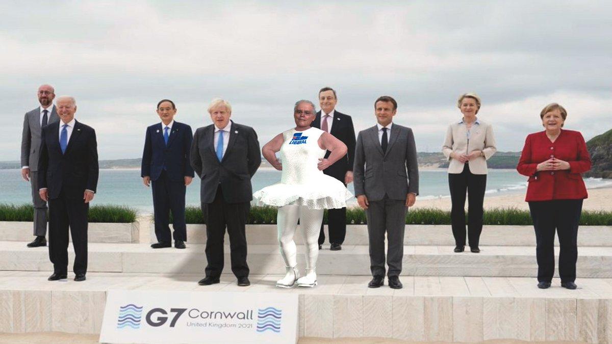 So Niki Savva reckons Scott Morrison's role at the G7 was 'Bridesmaid'   Fair Go Nicki - 'Prima Donna' at the very least!  #auspol https://t.co/470sWmynio