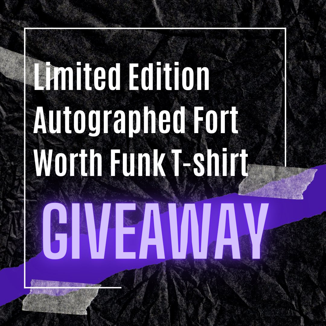 Win a limited edition autographed Fort Worth Funk T-shirt! 54 randomly selected winners!   How to enter:  🏀 Retweet this post   🏀Follow @ftwfunk  🏀 Tag 3 friends you want to watch TBT with in the comments  🏀 For an extra entry, share this post on your story and tag us https://t.co/bVObt0DiyB