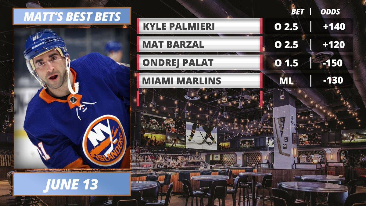 NHL #StanleyCup & MLB Bets, Props 6/13 c/o Sunday Best Bets w/ @bestofmatt  WATCH: https://t.co/DAAxZBjlwJ  Apple: https://t.co/BMRInwQy7m Spotify: https://t.co/GJsAGorViE Google: https://t.co/G2Yhr3Frya  Get a deposit match @PrizePicks using code 'MMN' (https://t.co/6IifjIyBtb) https://t.co/yuqV6D1PBZ