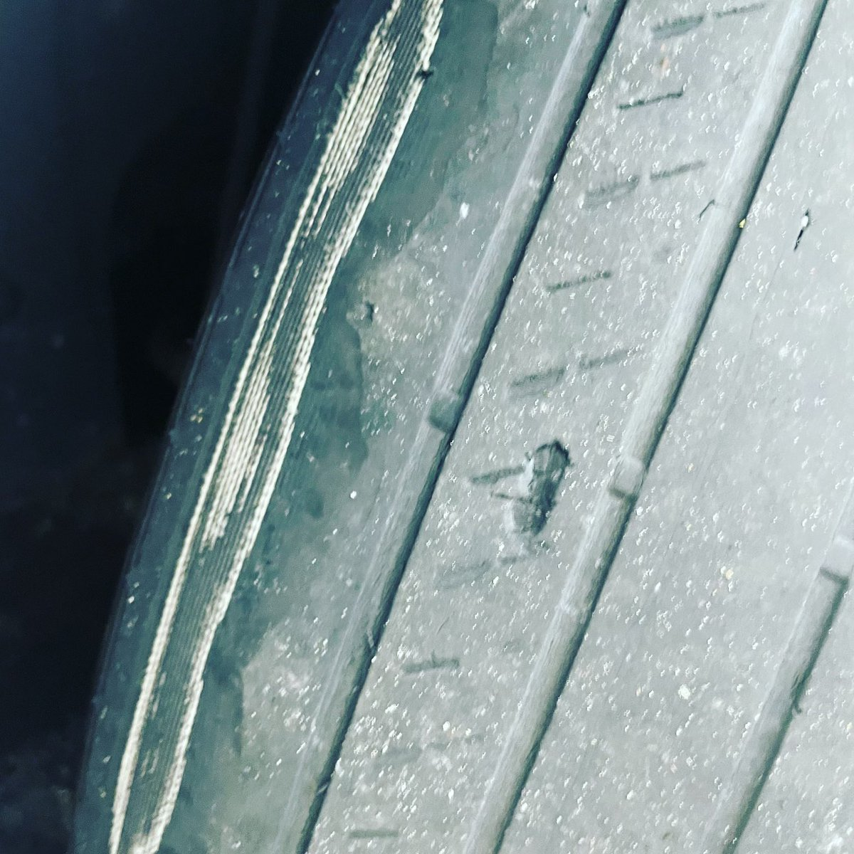@Avis so I picked up my car today and the tires are bald and steel belt is showing. So dangerous. Does Avis not care? Here's an image if u don't believe. #safety #rentalcars #avis https://t.co/OhC8MttOCp