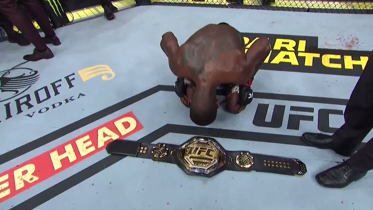 This one meant more ❤️🏆@Stylebender #UFC263 https://t.co/13BJ9B57ov