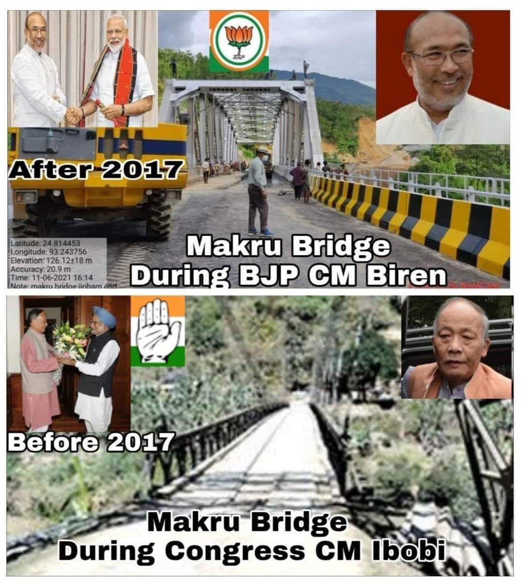 Thanks Hon'ble PM @narendramodi ji, HCM @NBirenSingh for the #lifeline bridge of #manipur which is about to #complete & #Inauguration anytime.This is real joyful moment. Jai Hind @nitin_gadkari @JPNadda @sambitswaraj @VungzaginValte @BJP4India @BJP4Manipur 🙏 https://t.co/F6DC3atW09