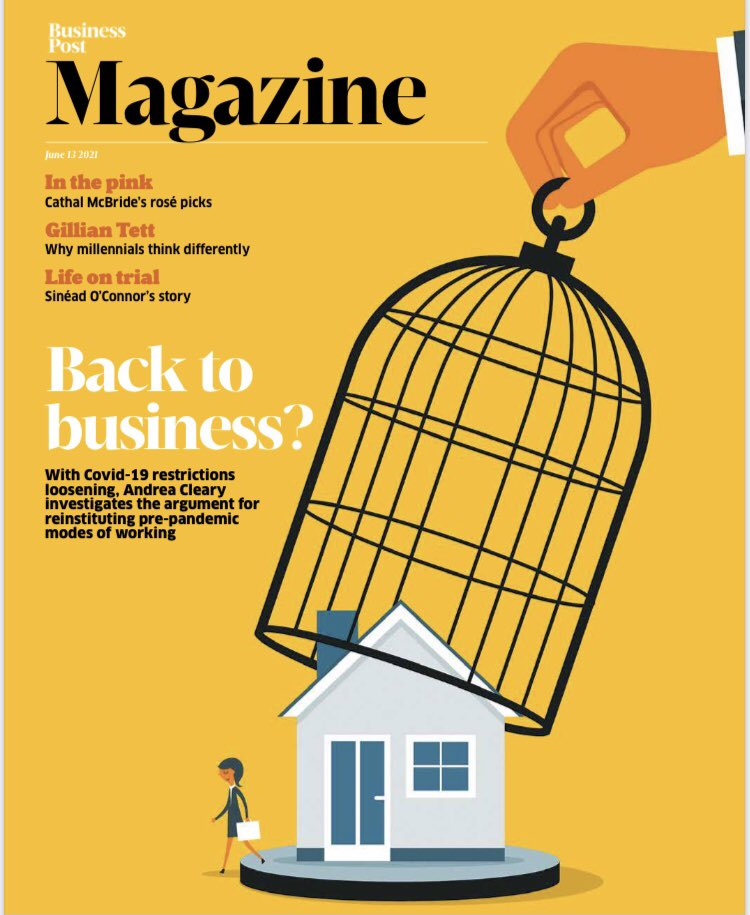 In this week's @businessposthq Magazine, an honest account of what returning to the office means for Irish employees, plus an extract from the 🔥 new book from @gilliantett; reviews of @Louise_Nealon & @BewleysCTheatre; @gnelis and @GlassOfRedWine on 🥘🍷 & much more. #buyapaper https://t.co/f4xFnyi8sf