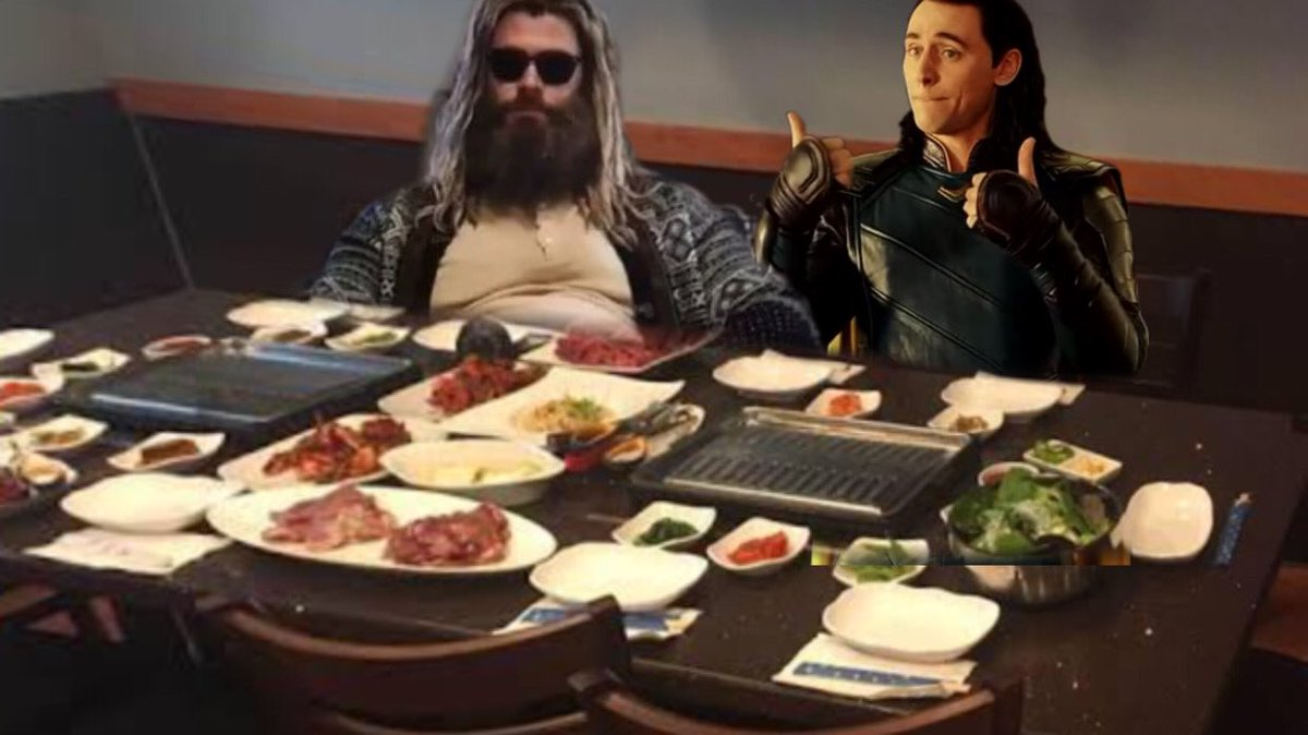 RT @lokislocation: Loki is with Thor and they are at a Korean Barbeque Restaurant.  #loki https://t.co/IIcUx5xEJr