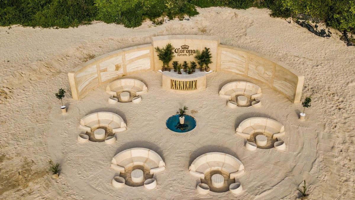 Corona levanta un bar de arena en la playa que se precia de ser 100% natural https://t.co/wUndSZCuFz 👈 https://t.co/q80il1pGnS