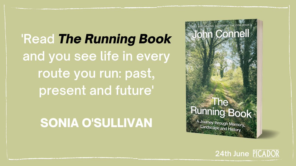 A compelling and intimate read about the joys and pleasures of running, the highs and lows of life, the history and landscape of Ireland, and so much more.   The Running Book is out in paperback on 24th June https://t.co/t9yejrsDdd https://t.co/HWAL0Z4vtc