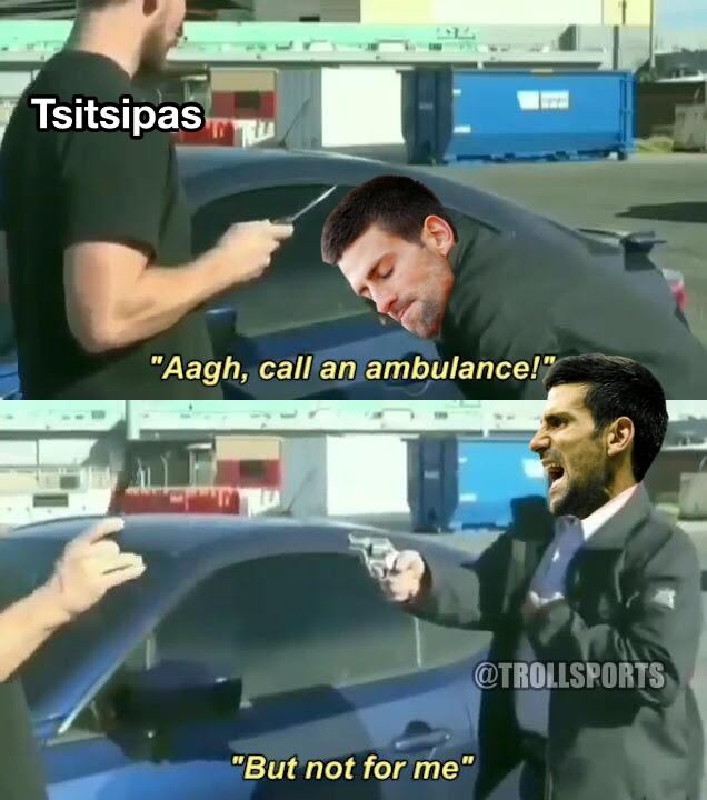 RT @TroIISports: Djokovic comes from 2-0 down to beat Tsitsipas in #RolandGarros final https://t.co/0IPq0OKFVj