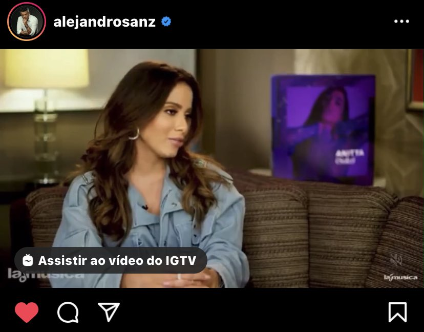 Alejandro Sanz posted a video on his Instagram, paying tribute to @Anitta.  👉 Check out: https://t.co/ewu8NX18aC https://t.co/REKRlehkDe