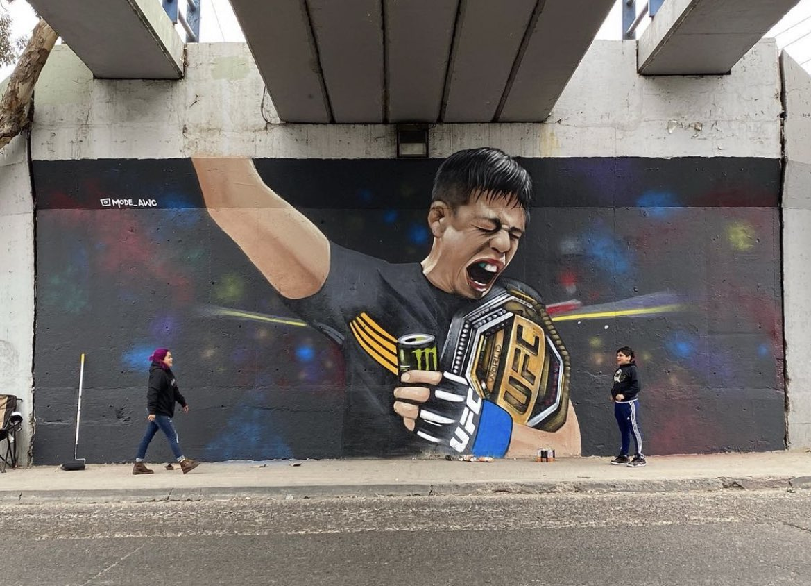 A mural is already up in Tijuana for Brandon Moreno 👏 (ig: mode_awc) https://t.co/MPCd8n2eCs