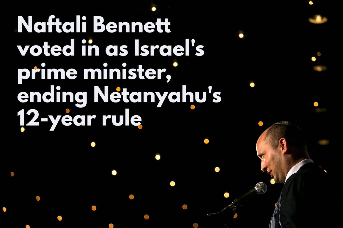 Israel's longest-serving prime minister, Benjamin Netanyahu, was just unseated, as Bennett-Lapid government passes confidence vote with a slim majority. Follow all the latest updates and reactions to this historic moment https://t.co/foQsOf8edk https://t.co/Gz22qNA3Xu