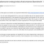 @JordiFun - Verzoek ingediend om vulgraad data van ondergrondse afvalcontainers in #Barendrecht open data te maken: volledige transparantie over volle containers, ledigingen en storingen. Voorstel (gratis, want ik bouw het!) ingediend bij communicatieafdeling en open data portal vd gemeente. https://t.co/e2aZok6GZF