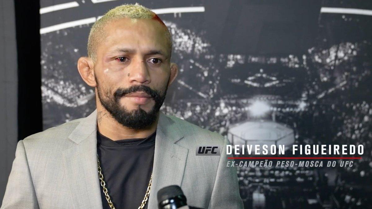 O #UFC263 não teve o final que 🇧🇷 @Daico_Deiveson gostaria. Mas, apesar da derrota, o brasileiro soube reconhecer a superioridade do adversário e deixou clara a sua vontade de fazer uma trilogia contra Brandon Moreno e reconquistar o cinturão dos moscas ⤵️ https://t.co/I6w1KNj3An