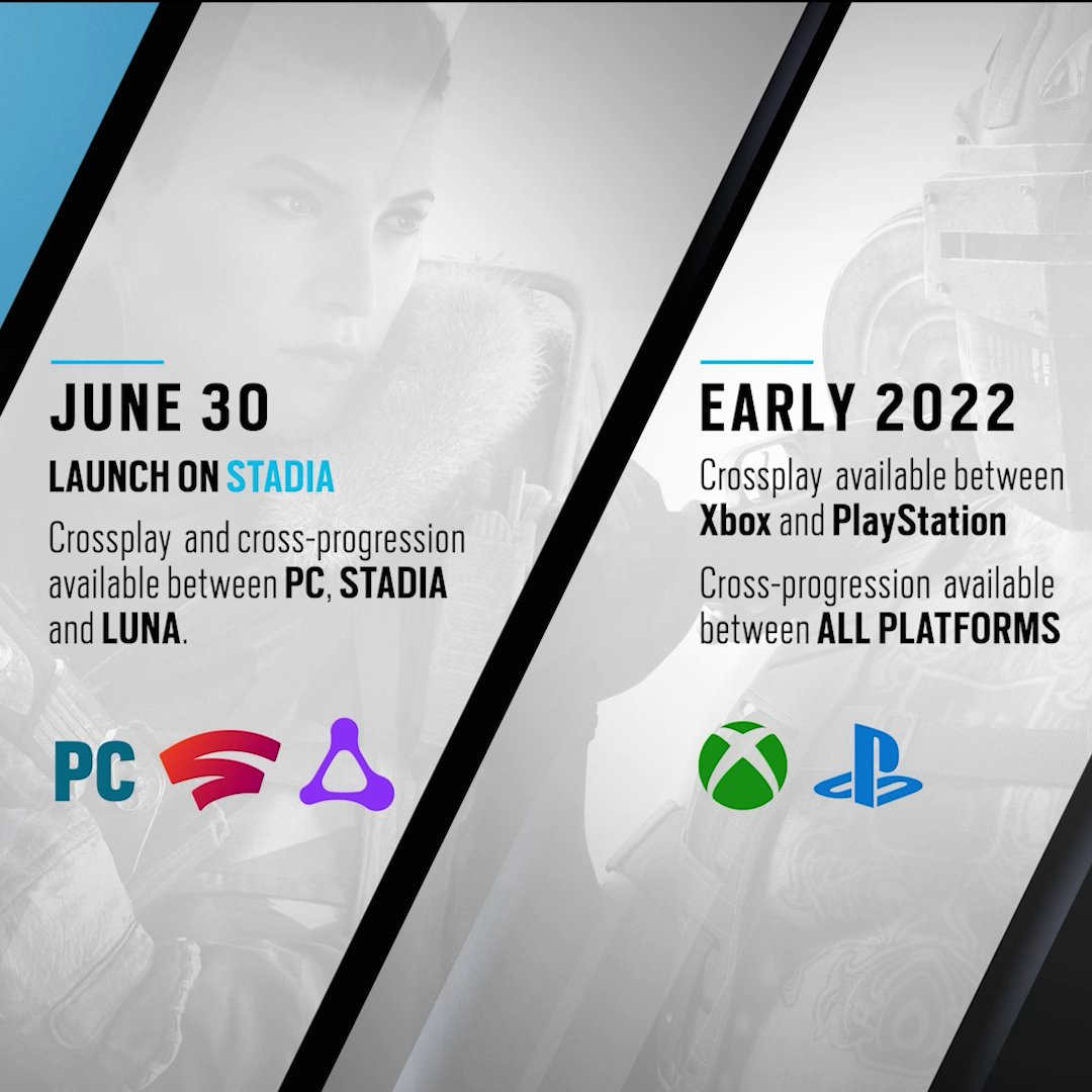 Hear an update on Crossplay and Cross-progression from our team!   🖱️PC, Stadia, and Luna Crossplay  🎮Console Crossplay ♻️Cross-progression between ALL (PC+Cloud+Console) platforms https://t.co/SMf14pKUpP