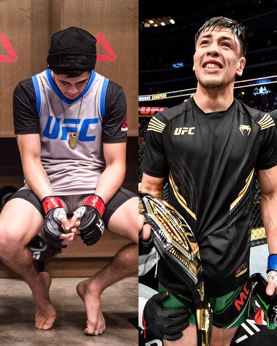 📉 Assigned lowest seed on TUF 24 ✂️ Cut from UFC after two-fight skid 🔙 Returned to UFC and earned title shot 🏆 Fought to a draw in first title opportunity 🇲🇽 Became first Mexican-born UFC champ  Brandon Moreno's struggles prepared him for ultimate success 💪 #UFC263 https://t.co/ksZFBwZ810