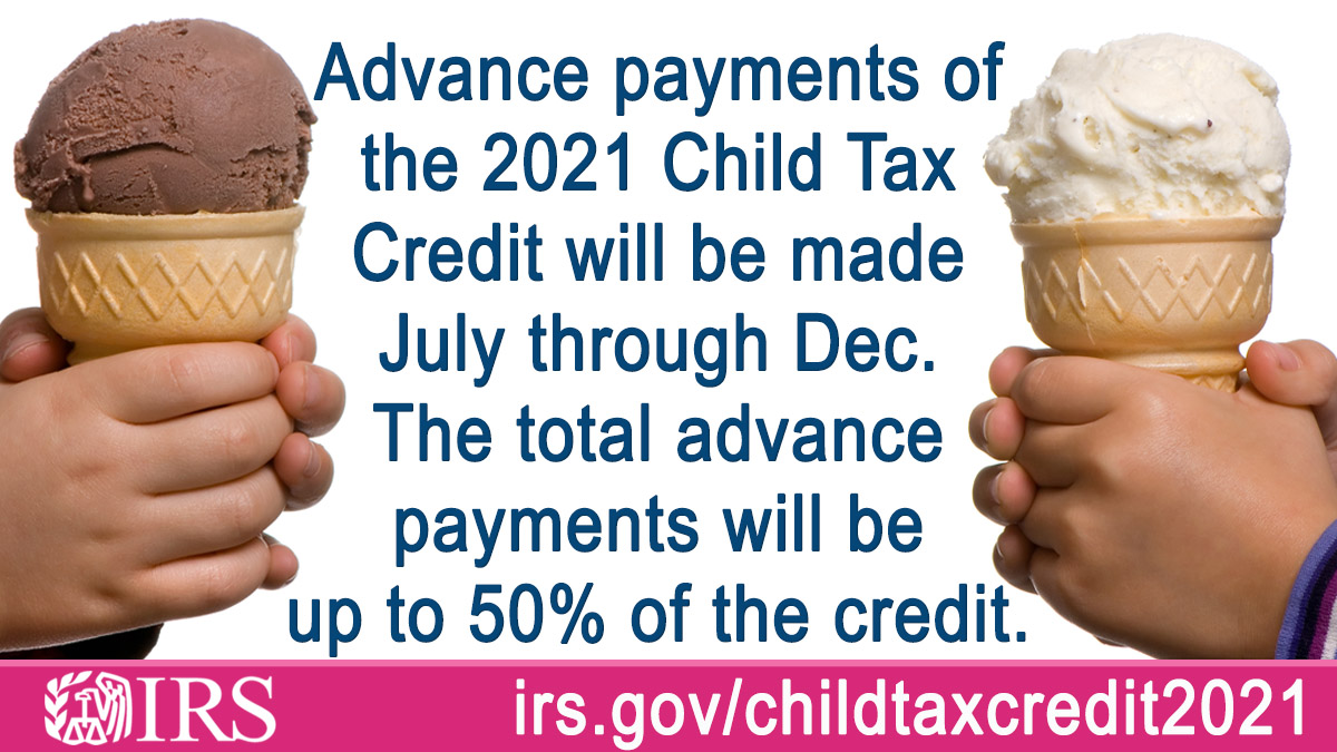 IRSnews: Families with qualifying children may receive up to 50% of their #ChildTaxCredit in 2021 – that is before filing their 2021 tax return next year. Learn more from #IRS at https://t.co/ZtMo3x3Rhy https://t.co/NJ44Tf9x75