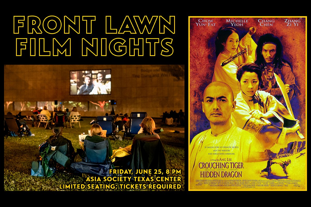 An epic saga set in 19th century China, 'Crouching Tiger, Hidden Dragon' blends striking imagery, groundbreaking action, and sweeping romance. We're closing out our Front Lawn Film Nights series with this blockbuster on June 25; reserve your lawn pod now » https://t.co/JaWxXGMkRw https://t.co/aL98zYgKh8