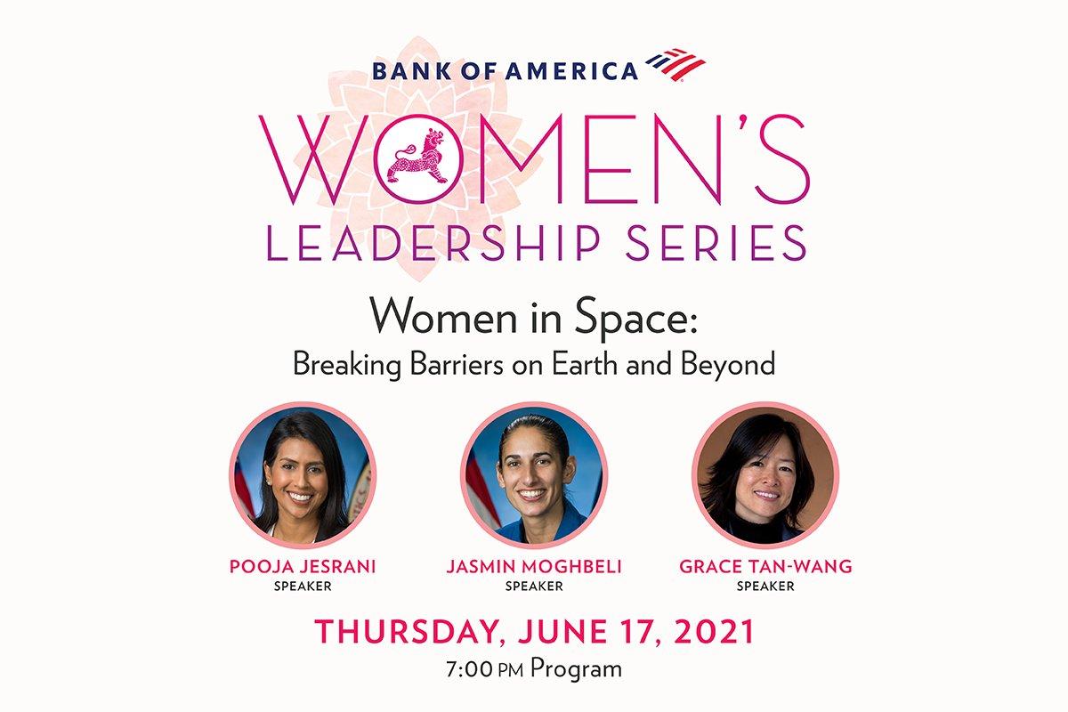 This Thursday evening, join us as we welcome @NASA Flight Director Pooja Joshi Jesrani, @NASA_Astronauts Jasmin Moghbeli @AstroJaws, and @NASAJPL engineer Grace Tan-Wang as part of our @BankofAmerica Women's Leadership Series! » https://t.co/ZZPsAv1ltI https://t.co/3XV3gQhvIf