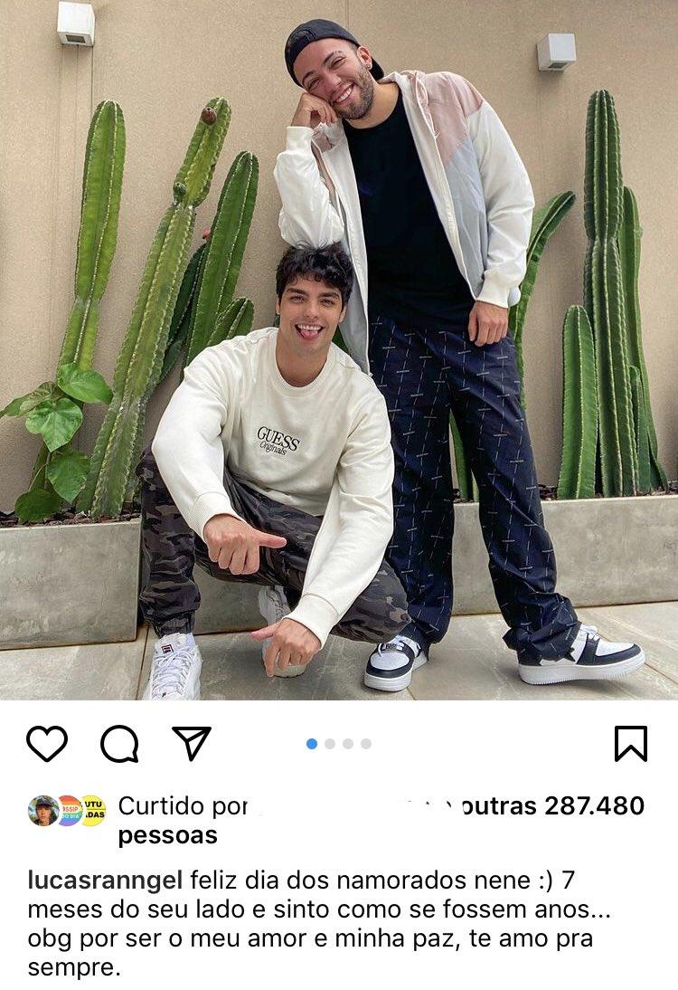 Cê viram que fofo o Lucas Rangel assumindo o namoro? Bem vindo oficialmente ao Vale, Rangel! 🌈 https://t.co/a2HB99igdT
