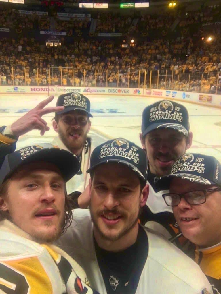 Sorry Friends-Yesterday June 12th was the one of the greatest days on Pittsburgh Sports! Our @penguins won 2of their Stanley Cups Pic courtesy of our team taking for a pic before  Crosby receives the 2017 Conn Smythe! @gemi6615 https://t.co/3IDbX7NyEV