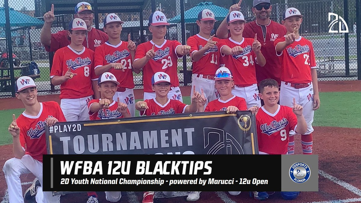 🏆2D Youth National Championship🏆  12u Open:  🥇- WFBA 12u Blacktips  #Play2D