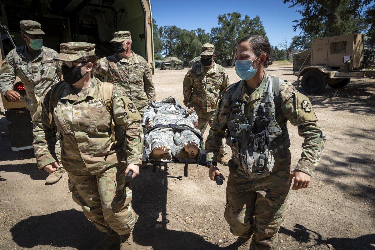 US Military News • Exercise Global Medic 2021 Kicks off at Fort Hunter Liggett • California USA