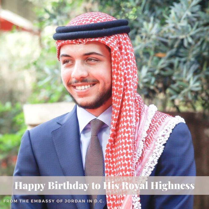 Happy birthday to His Royal Highness Crown Prince Al Hussein bin Abdullah II!