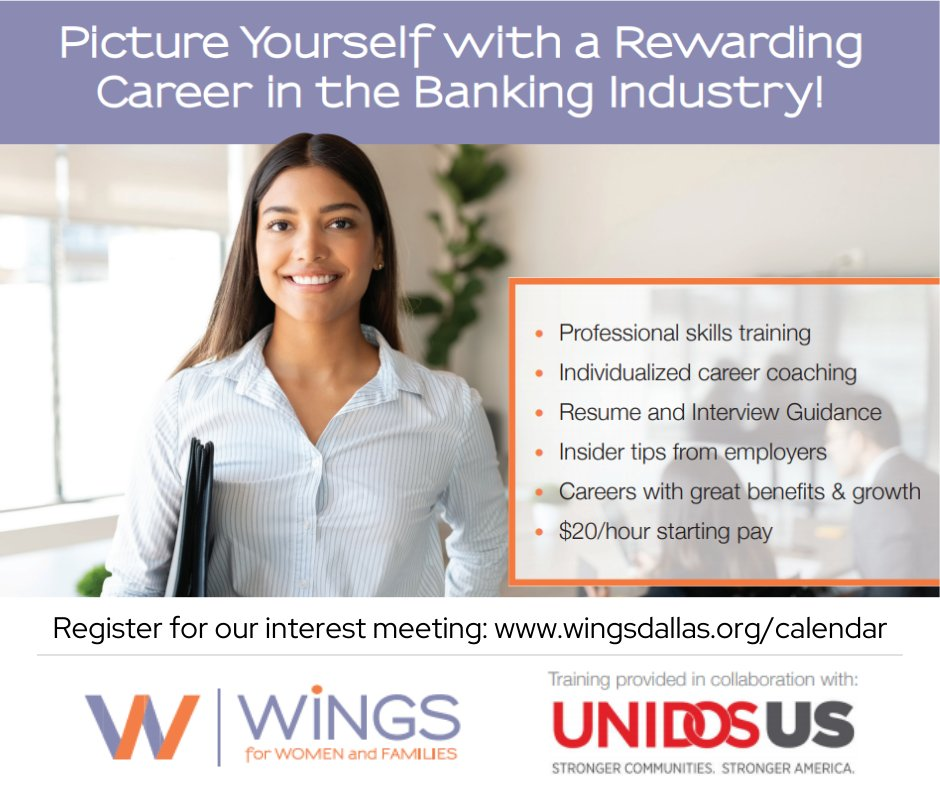 test Twitter Media - Have you thought about a career in banking? Introducing a WiNGS career pathway just for you! Join us this upcoming week for an interest meeting to learn more and get your questions answered. Register at https://t.co/87gQ9BObJ4 #bankingcareer #careertraining https://t.co/WCm3g0ousT